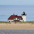 Race Point Lighthouse - from the water by Linda Crockett