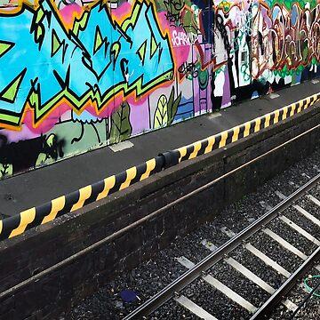 Graffiti, South Melbourne Railway Station by rozmcq