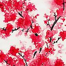 Cherry Blossoms IV by Kathie Nichols