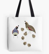 Quail Family Tote Bag