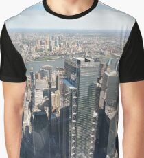 Manhattan, New York City, downtown, #Manhattan, #NewYorkCity, #downtown, #NewYork, skyscrapers, river, Hudson, bridges, streets Graphic T-Shirt