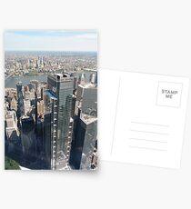 Manhattan, New York City, downtown, #Manhattan, #NewYorkCity, #downtown, #NewYork, skyscrapers, river, Hudson, bridges, streets Postcards