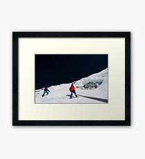 Steep Framed Print