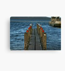 Pier Review? Canvas Print