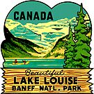 Beautiful Lake Louise Vintage Travel Decal by hilda74