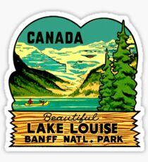 Beautiful Lake Louise Vintage Travel Decal Sticker