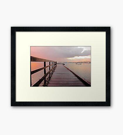 Sunrise On The Jetty  Framed Print