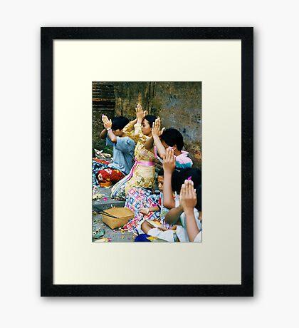 Prayers & Offerings Framed Print