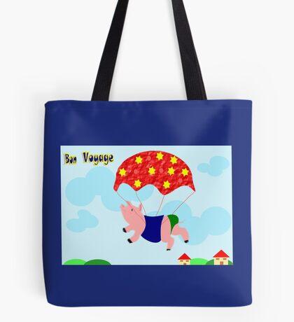 Bon Voyage -piggy is happy  (4787 Views) Tote Bag