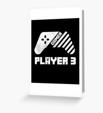 Gamer Player 3 -Video games lover, Matching Family Gift Shirt Greeting Card