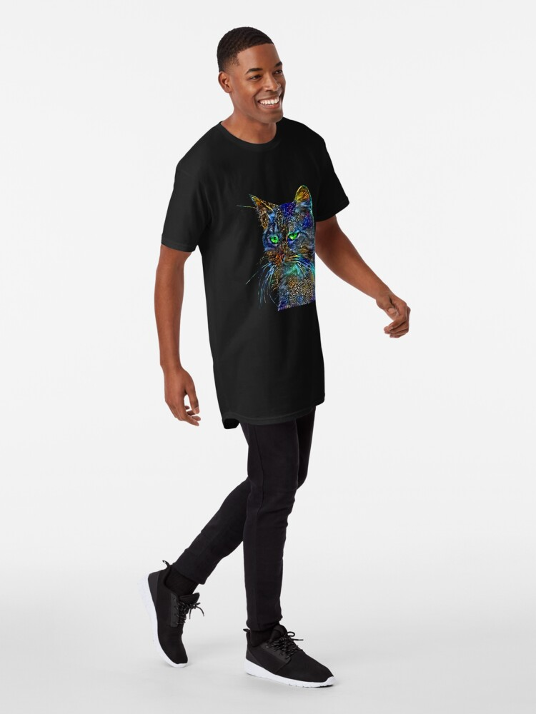 Alternate view of Artificial neural style Starry night wild cat Long T-Shirt