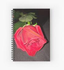 Tiefrote Rose Schönheit Spiralblock