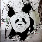 Giant Panda in Chinese Forest by Mark Young