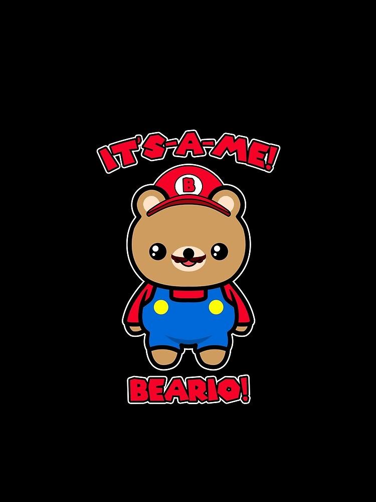 Bear Cute Funny Kawaii Mario Parody by awesomekawaii