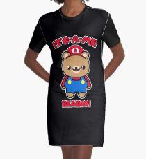 Bear Cute Funny Kawaii Mario Parody Graphic T-Shirt Dress