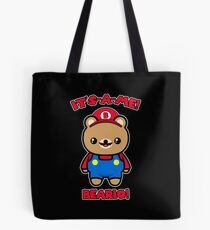 Bear Cute Funny Kawaii Mario Parody Tote Bag