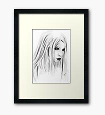 Lilith on white Framed Print