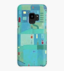 Blue town from the steps Case/Skin for Samsung Galaxy
