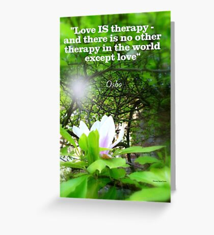 Love is Therapy Greeting Card
