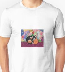 Kittens Playing On Heirloom Quilt Unisex T-Shirt