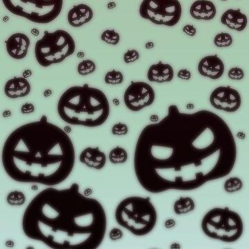 Glow Pumpkins [Green Version] by jashinhunter