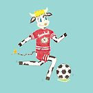 Snowbell the cow plays soccer by iCraftCafe