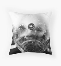 In Bowl No One Can Hear You Eat! Throw Pillow