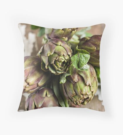 Artichokes Throw Pillow