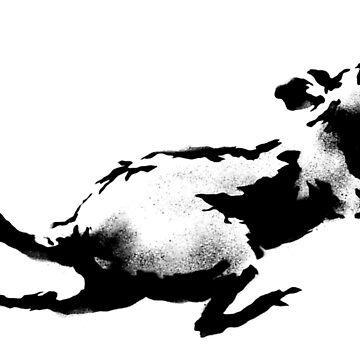 """Banksy - """"Clock Rat"""" by streetartfans"""
