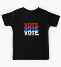 Vote Vote Vote Red , White And Blue Kids Tee