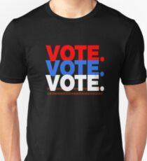 Vote Vote Vote Red , White And Blue Unisex T-Shirt