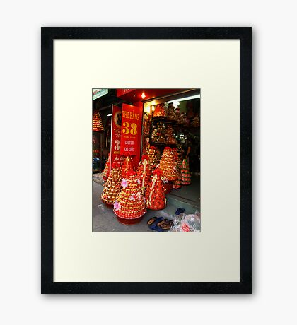 Wedding Party Gift Shop - Hanoi, North Vietnam Framed Print