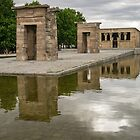 Reflecting on Millennia - Egyptian Temple Of Debod in Madrid Spain  by Georgia Mizuleva
