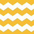 Mustard Yellow Chevron Print by itsjensworld