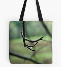 Lines on green Tote Bag