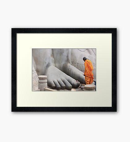 At His feet! Framed Print