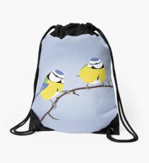 Blue Tit British bird Drawstring Bag