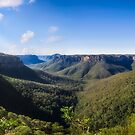 Govetts Leap Lookout Panorama, Australia by Danielasphotos