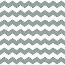 Medium Gray Green Chevron Print by itsjensworld