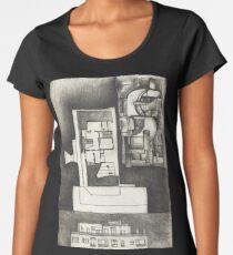 Architectural shapes on a black background Women's Premium T-Shirt