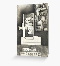 Architectural shapes on a black background Greeting Card