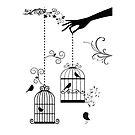 Vintage Birds by t0nialar