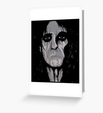 Alice Cooper Painting Greeting Card