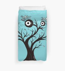 Excited Tree Monster Ink Drawing Duvet Cover