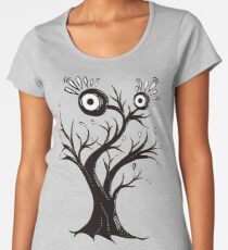 Excited Tree Monster Ink Drawing Women's Premium T-Shirt
