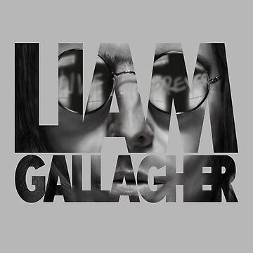 Liam Gallagher text print by iRussJ