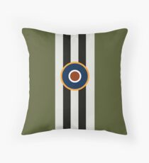 D-Day Stripes with RAF Roundel Throw Pillow