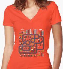 Urban landscape Women's Fitted V-Neck T-Shirt