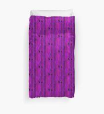 Purple Wooden Shim Duvet Cover
