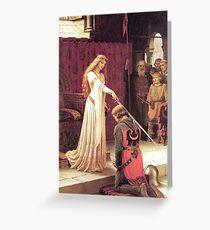 Guinevere schafft einen Ritter Grußkarte